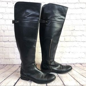 Frye Black, Tall Riding Boots with Inside Zippers